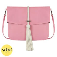 VONA Ferris (Pink) - Tas Clutch Selempang Rumbai Crossbody Shoulder Casual Bag Small