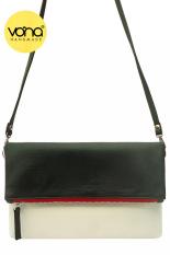 VONA Pitta (Hitam Putih) - Tas Wanita Selempang Sling Bag Clutch Crossbody Kecil