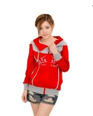 Vrichel Collection - jaket wanita hoodie (merah)