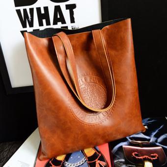 Wanita PU tas kulit Premium atas pegangan tas jinjing selempang tasbahu -  International 399919c5fe