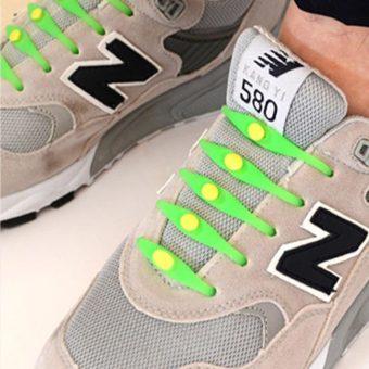 Tali Sepatu Praktis Elastis Shoe Lock Lace Laces No Tie Elastic ... - Rp