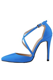 Win8Fong Party Stiletto Pointed Toe (Blue)