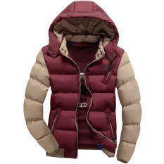 Wine Red New Arrived Casual Ultralight Mens Down Jackets Hooded Autumn & Winter Jacket Men Splice Light Weight Down Parkas Jacket Men Overcoats