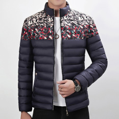 Winter Slim Camouflage Cotton Flower Male Korean Jacket Padded Thick Warm Tide Male Coats Jackets