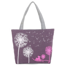 Woman Canvas Dandelion Tote Zipper Wallet Fashion Lady Shoulder Handbag Bag - Intl