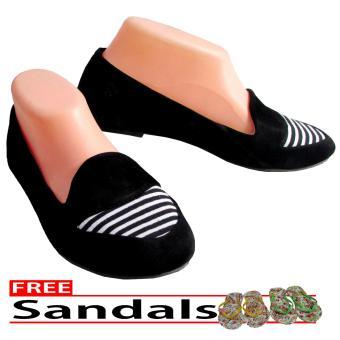 Woman Choice Flat Shoes Develop 06- Sepatu Balet - Hitam Free Sandals