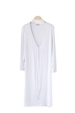 Women Casual Long Sleeve Cardigan Knit Knitwear Sweater Coat Wraps Outwear Tops White