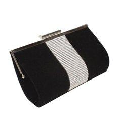 Women Clutch Evening Party Bag Crystal Shoulder Bag Handbag Envelope Tote Purse (Black) - Intl