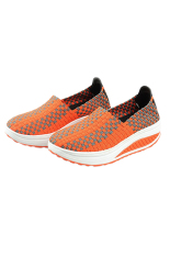 Women Fashion Sneaker Handmade Shoes Summer Shoes (Orange) - Intl