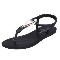 Women Flat Shoes Diamonds Bohemia Leisure Lady Sandals Peep-Toe Outdoor Shoes - intl