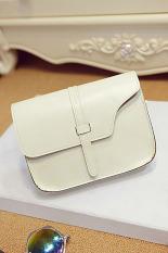 Women Girl Shoulder Bag Faux Leather Satchel Crossbody Tote Handbag White