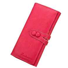 Women Leather Card Case Wallet Clutch Ladies Checkbook Handbag Holder Purse Hot Pink