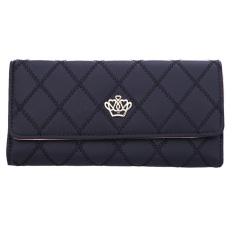 Women Leather Wallet Long Purse (Black) - Intl