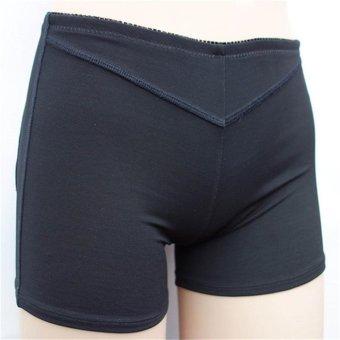 Women Mesh Booty Lifter Butt Enhancer Sport Shorts Pants (Black) - intl
