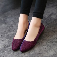 Women OL Slip On Loafers Casual Glitter Ballet Ballerina Flats Shoes Candy Color