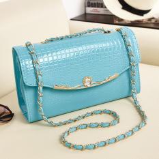 Women's Clutches Bags Korean Style Shoulder Bags Leather Handbags (Blue) (Intl)