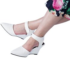 Women Summer Fashion Ankle Pointed Toe Sexy Sandals High Heels Shoes(White)(Size:38) - intl