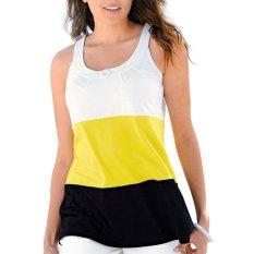 Women Summer Sleeveless Casual Tank Tops Yellow