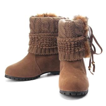 Win8Fong Stylish Fur Covered Warm Winter Snow Boots
