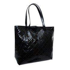 Women Weaving Handbag PU Leather Handbags Fashion Shoulder Bag (Black) - Intl