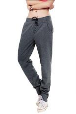 Women Yoga Sport Pants Sweatpants Joggers Sportswear Running Pants Dark Grey (Intl)