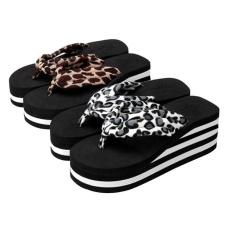 Women Zebra-stripe Sandal Platform Wedges Flip Flops Home Slippers Shoes A37# - intl
