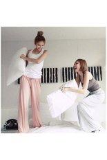 Women's Comfy Cotton Long Loose Wide Leg Pants Heram Yoga Belly Dance Pants - Free Size White