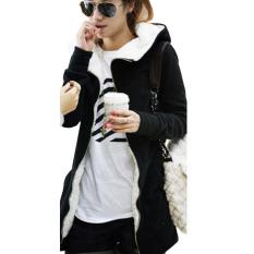 Womens Fleece Long Sleeve Coat Hooded Hoodie Coats (Intl)