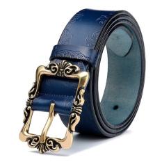 Womens Genuine Leather Belt Fashion Belts Blue - Intl