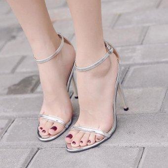 Women's High Heels Leisure Sandals Silver - intl