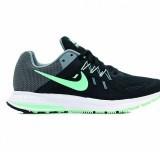 Womens Nike Zoom Winflo 2-Black / Green Glow-Cl Grey-White