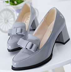 Women's Shoes Thick High Heels Waterproof Platform Pointed Shallow Mouth Pure Color Butterfly Bow Wedding Shoes Pumps