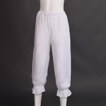 Women's Victorian Bloomers Pants Gothic Pantaloons Renaissance Elastic Pants White - Intl