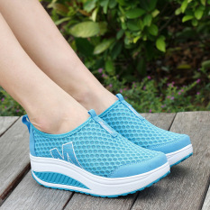 Xin Bo Women Breathable Mesh Soft Running Sport Shoes Blue