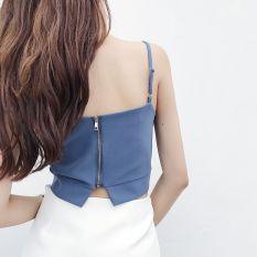 Kemeja Sifon Source · Yang Chic Retro Angin Kecil Suspender Pakaian Luar Kecil .