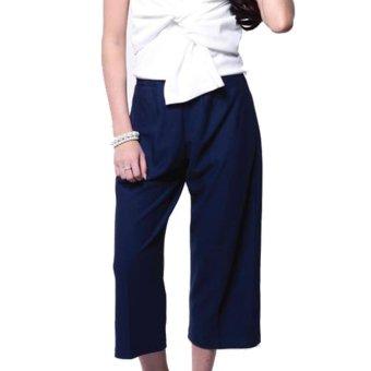 Yoorafashion Celana Kulot Wanita - Navy - Basic Cullotes Pants