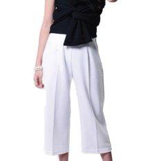 Yoorafashion Celana Kulot Wanita - Putih - Basic Cullotes Pants