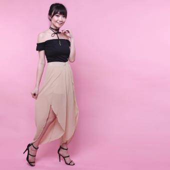 Yoorafashion Celana Wanita - Escarpat Pants - Cream / Krem
