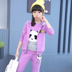 YOUNGIN gadis baru gadis kecil pakaian anak-anak memakai pakaian (Violet)