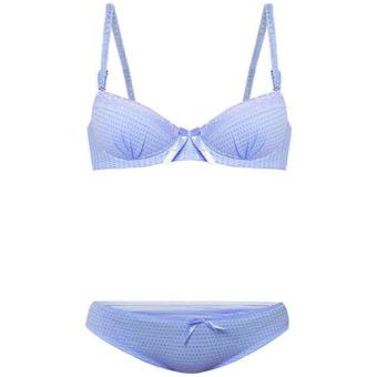 You've Vinset Bra Set Blue BH Pakaian dalam pelengkap pakaian wanita