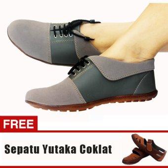 Yutaka Sepatu Wanita N30 Abu-Abu + Gratis Sepatu Sp30 Tan