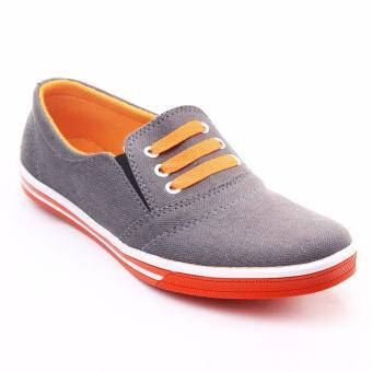 Yutaka Sneakers Abu-abu-Orange