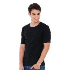 Zada Basic Pocket T-shirt Pria - Hitam