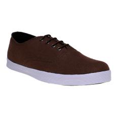 Zada Canvas Sneakers Pria - Cokelat