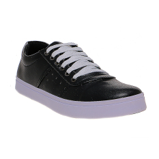 Zada Casual Contrast Lace Up Sneakers Pria - Hitam