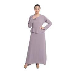 Zada Gamis Maxi Dress Peplum Dan Ruffle - Abu