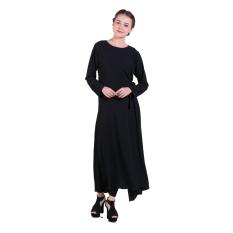 Zada Gamis Tie Maxi Dress - Hitam
