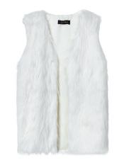 ZANZEA Womens Winter Warm Faux Fur Long Vest Coat