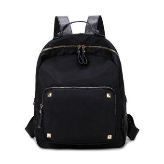 ZeeBee Fashion Oxford Backpack / Tas Ransel Wanita / Tas Fashion-Black