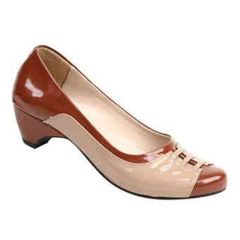 Zeintin Sepatu Kantor Wanita AX18 – Coklat/Mocca
